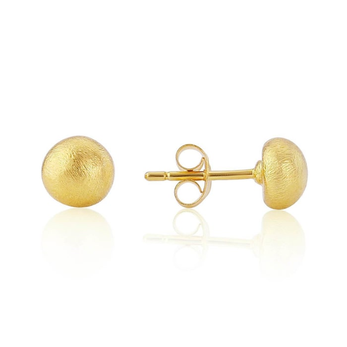 Yellow Gold Plated Sorrento Nugget Stud Earrings