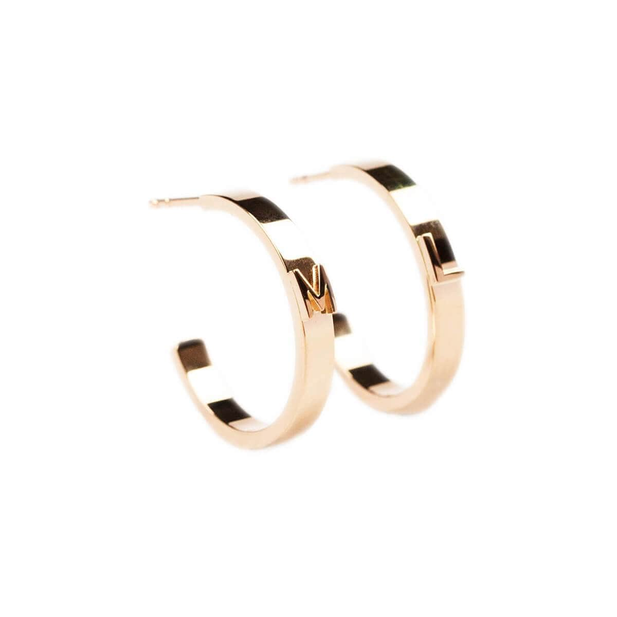 14kt Rose Gold Character Hoops