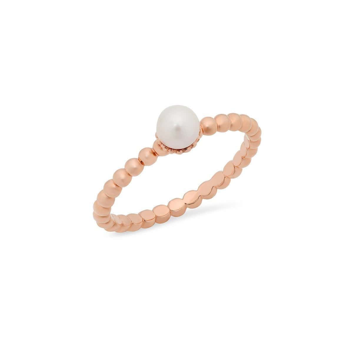 Rose Gold Stackable Pearl Ring