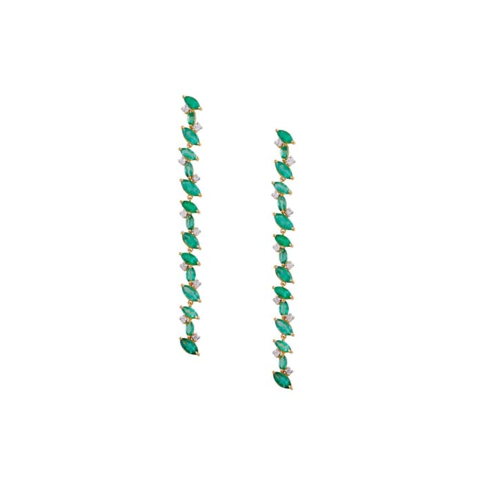 18kt Gold Emerald Marquise Desire Earrings