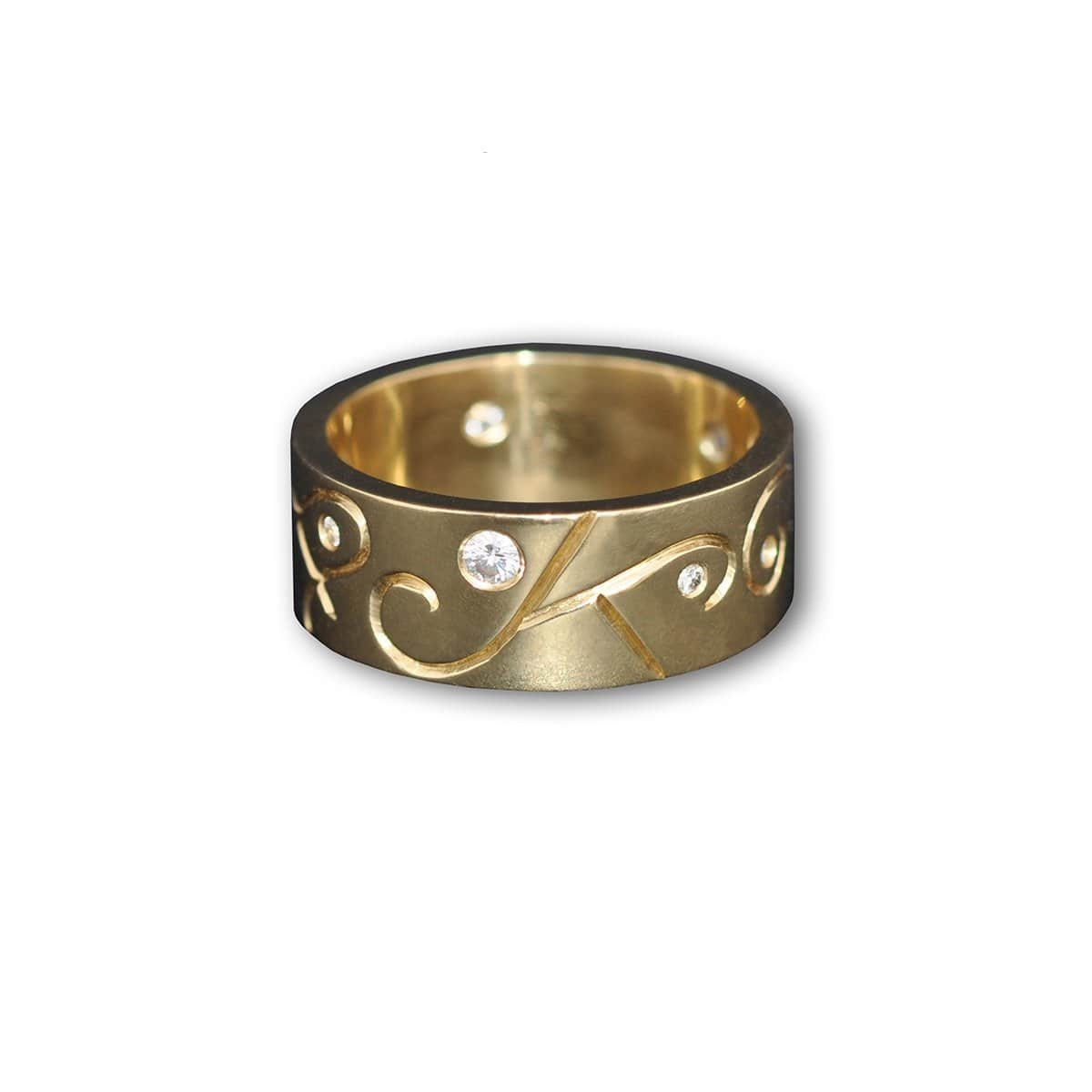 9kt Yellow Gold Men's Arcticos Ring