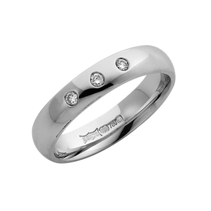 9kt White Gold & Diamonds Wedding Ring