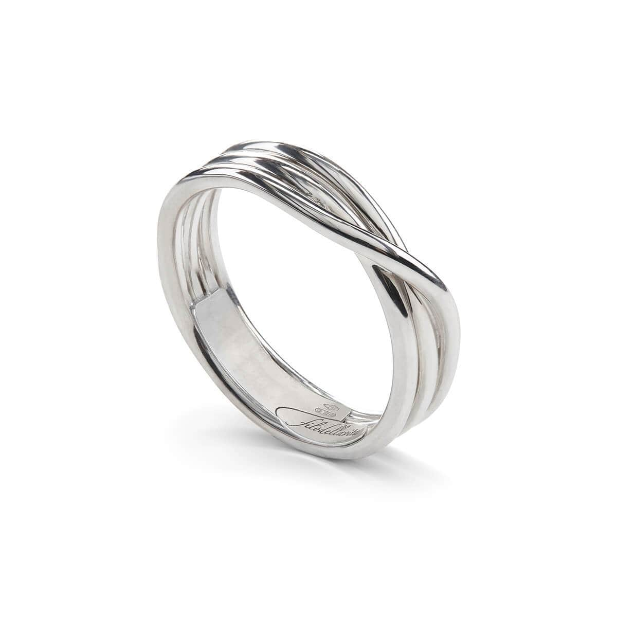 Sterling Silver Rock Argento 3 Ring