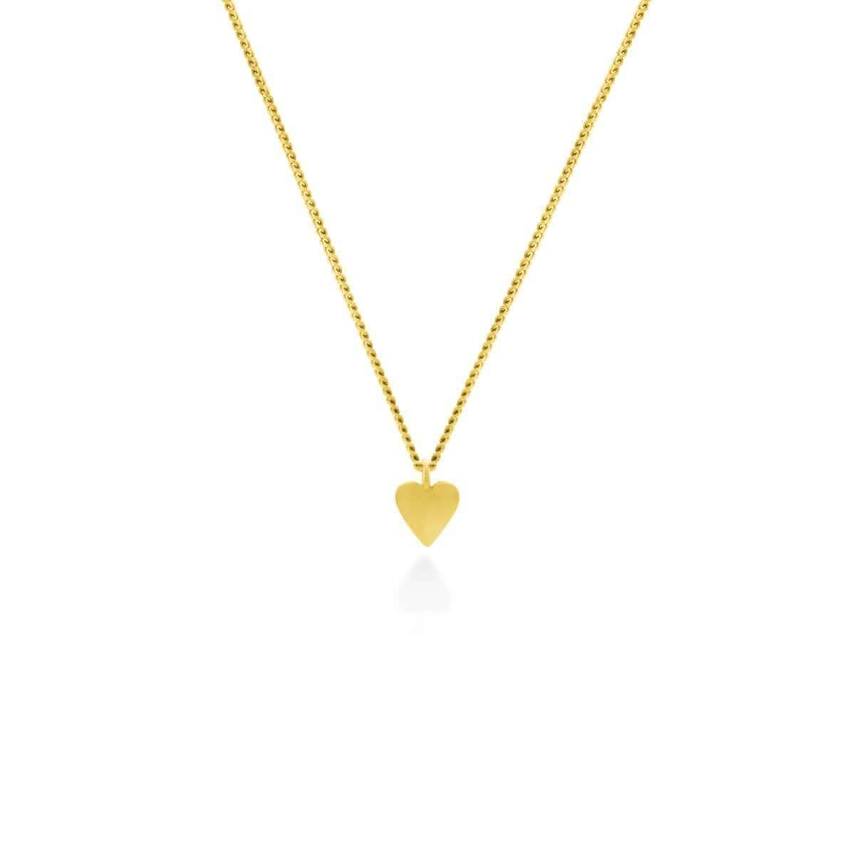 Yellow Gold Plated This Little Heart Of Mine Necklace