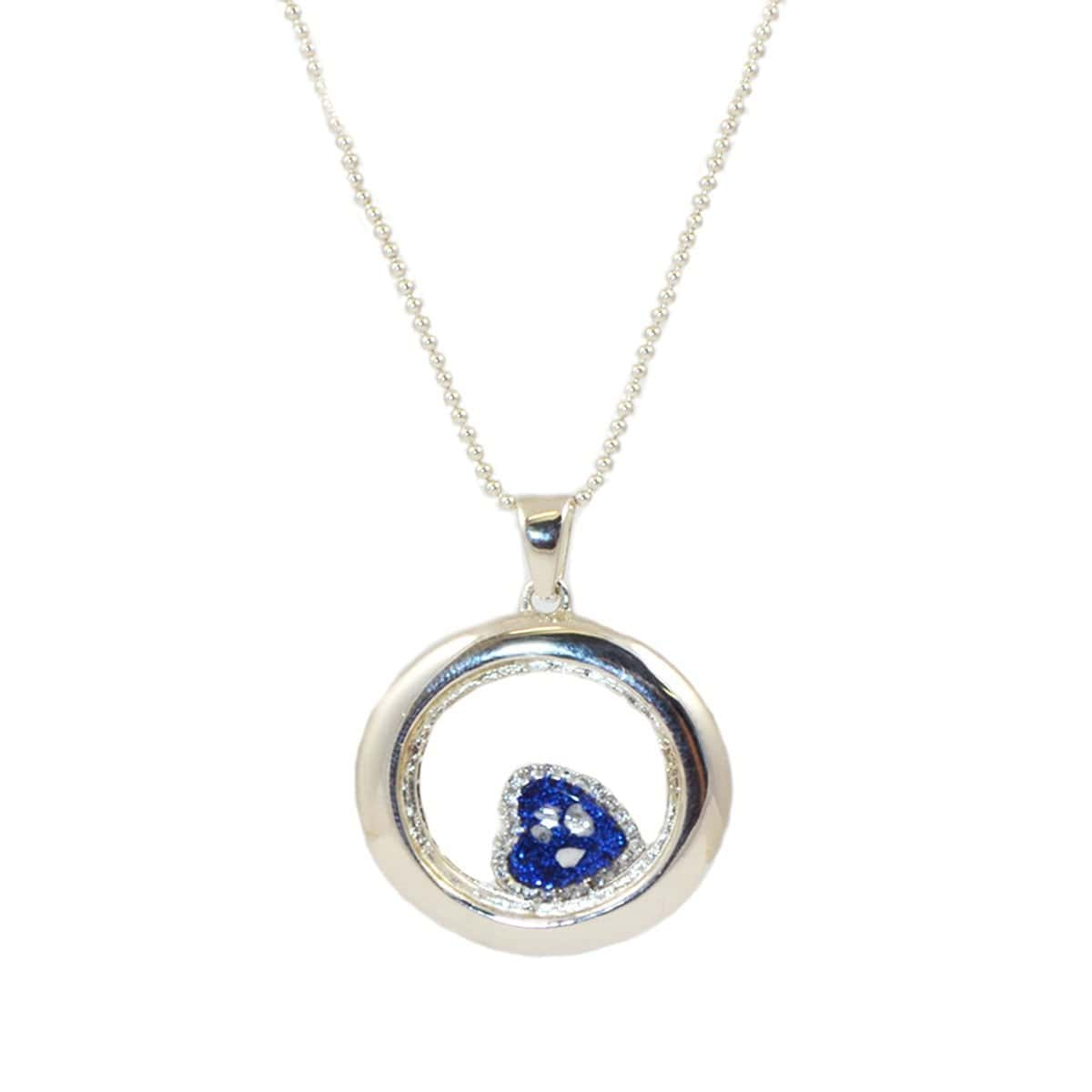 Rhodium Plated Sterling Silver Heart of Love Locket