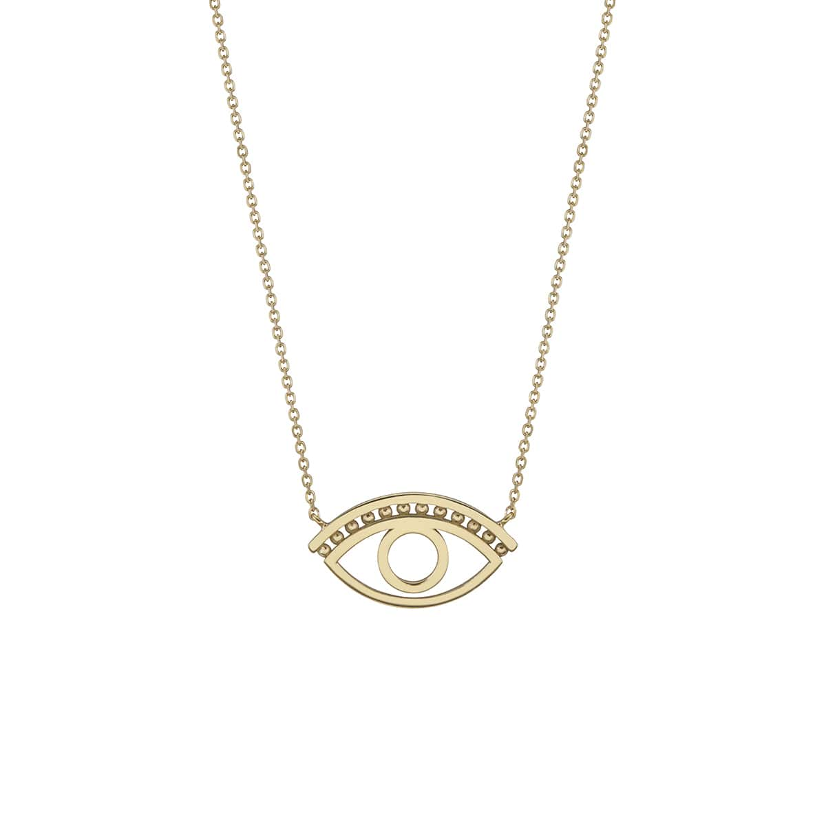 18kt Yellow Gold Plated Silver Mati_O Eye Necklace