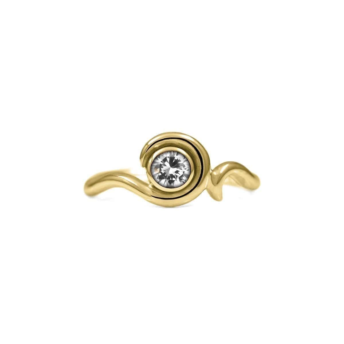 Entwine Solitaire Ring In Gold