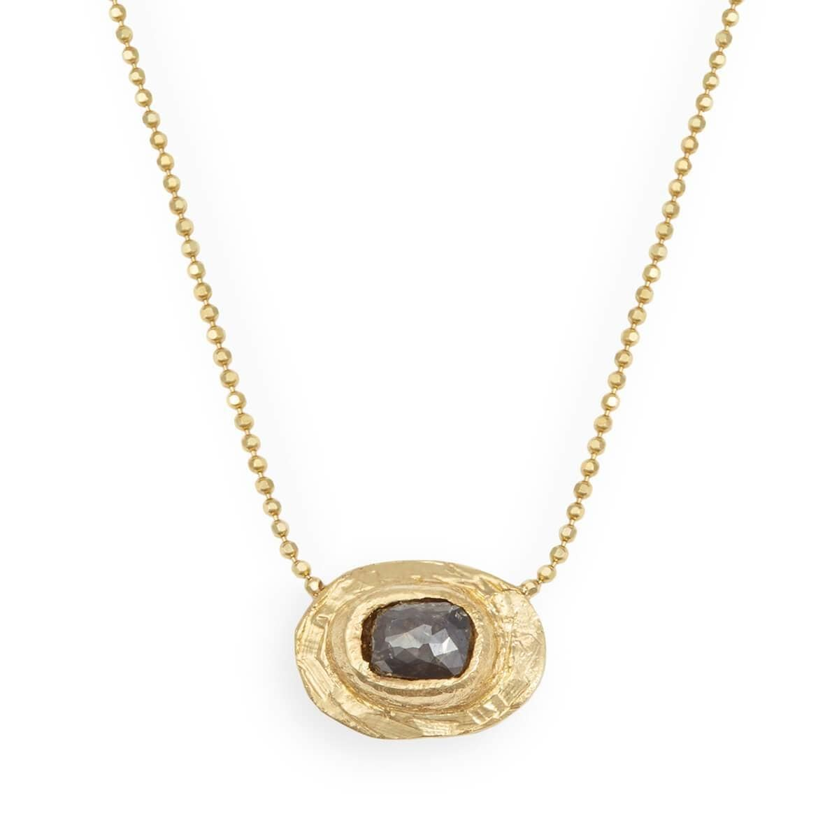 Yellow Gold Midnight Love Nugget Necklace