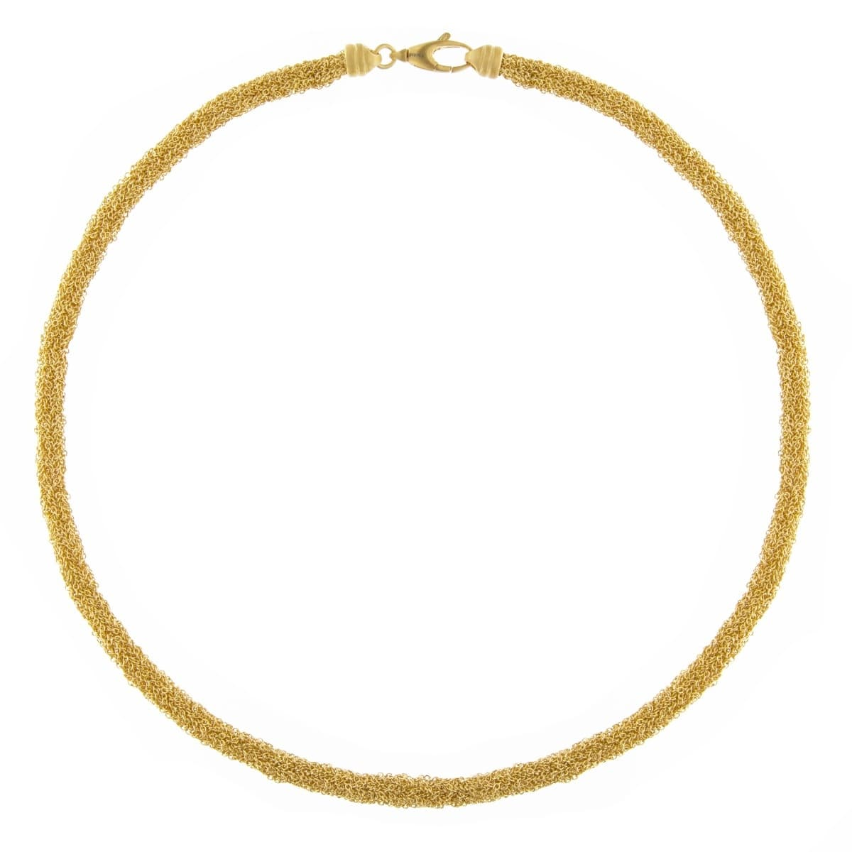 Gold Plated Sterling Silver Woven Chain Necklace