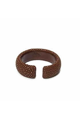 Samba Tan Stingray Leather Bangle