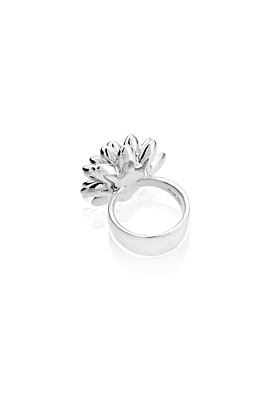 Sterling Silver Thick Dalia Ring
