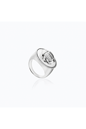 SILVER BEETLE RING