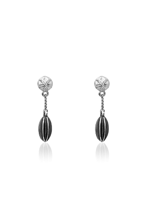Sterling Silver Cactus Cereus Chain Earrings
