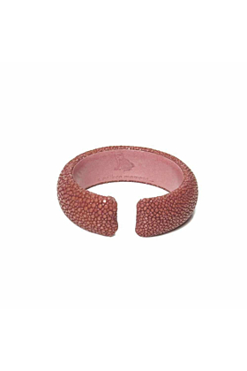Samba Vieux Rose Stingray Leather Bangle
