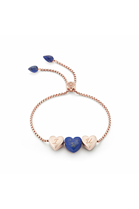 Luv Me Lapis Adjustable Heart Bracelet