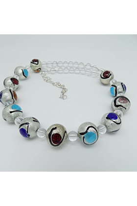 Murano Glass Bead Mir Joy Necklace