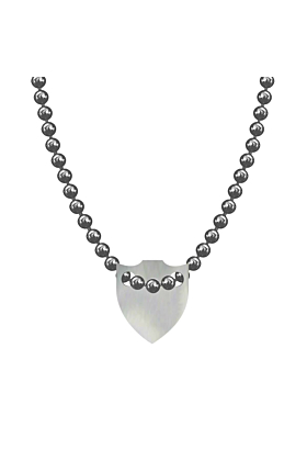 Made In Britain Necklace - Sterling Silver Spiked Shield