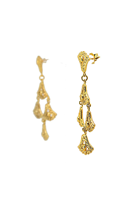 Yellow Gold Plated Sunshine Lotus Earrings
