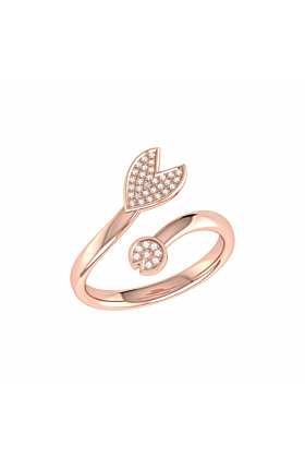 14kt Rose Gold Plated Pac-Man Chase Ring
