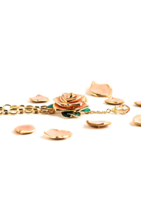 Gold Statement Rose Necklace