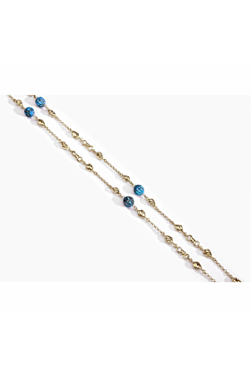 Yellow Gold Plated Silver & Turquoise Summer Nights Necklace