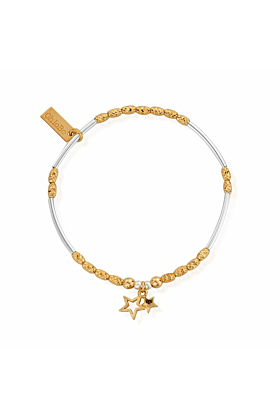 Gold & Silver Double Star Bracelet