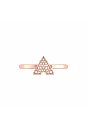 14kt Rose Gold Plated Skyscraper Ring