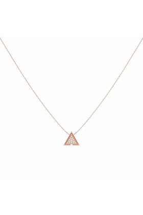 14kt Rose Gold Plated Skyscraper Triangle Necklace