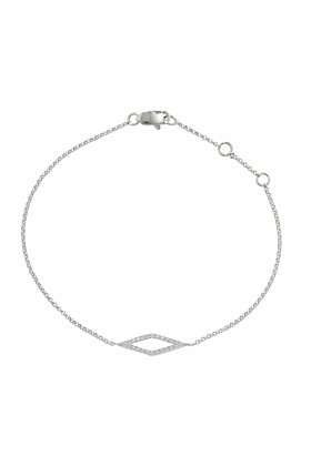 Portobello White Gold Diamond Geo Bracelet