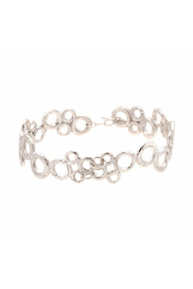 Sterling Silver Bubble Cuff Bangle