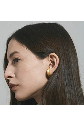 Gold Plated Silver Orbit Wide Radius Lobe Earrings