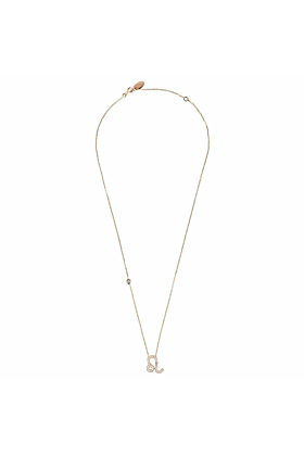 Leo Zodiac Necklace Rosegold