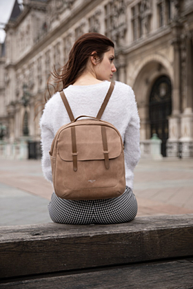 Lola Brown Leather Backpack