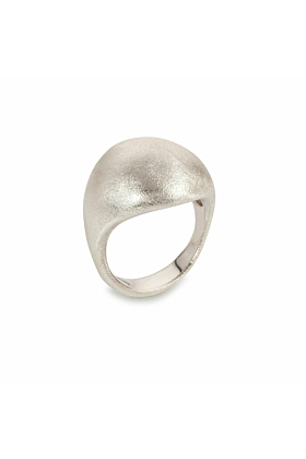 Sterling Silver Frosted Máni Ring