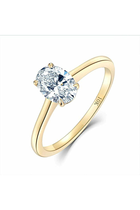 10kt Yellow Gold Contemporary Moissanite Ring