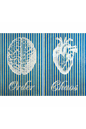 Order Chaos on Blue Gold Paper Screen Print
