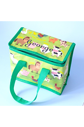 Personalised Green Farm Lunch Bag