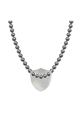 Made In Britain Necklace - Sterling Silver Edged Shield