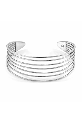 Bondi Midi Surf Silver Bangle