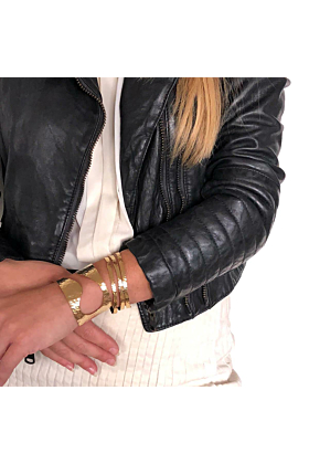 24kt Gold Plated Brass Bellona Cuff Bracelet