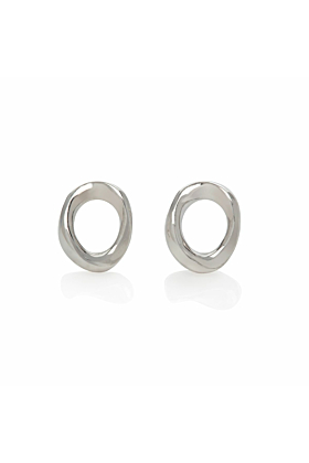 Sterling Silver Nordic Bubble Stud Earrings
