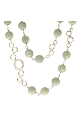 Sterling Silver Bubble Bead Necklace
