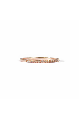 14kt Rose Gold Champagne Anniversary Band