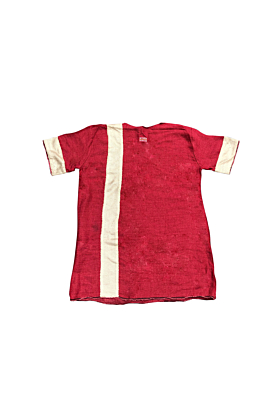 Pontius Claves Red Linen Top