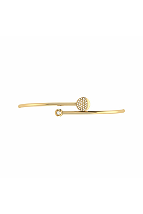 14kt Yellow Gold Plated Moon-Crossed Lovers Bangle