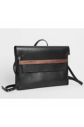 Black Leather Less Is Bag Bite Backpack