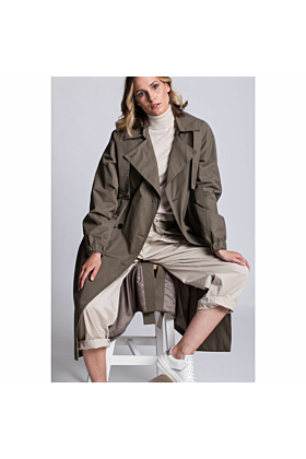 Elegance Brown Trench Coat