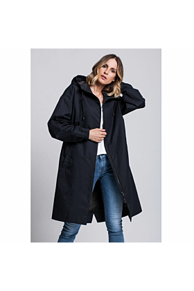 Raincoat Storm With Hood In Dark Navy