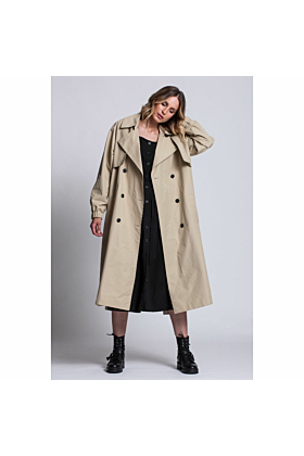 Trench Coat Elegance In Beige