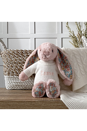 Personalised Jellycat Blush Blossom Bunny Soft Toy
